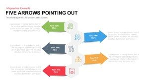5 Arrows Pointing Out Template for PowerPoint and Keynote