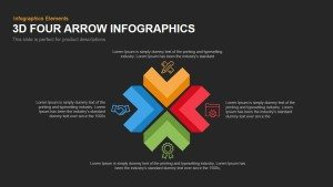4 Infographics Arrow PowerPoint Template and Keynote Slide