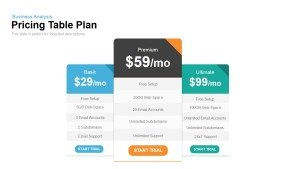 Plan and Pricing Table Template for PowerPoint and Keynote