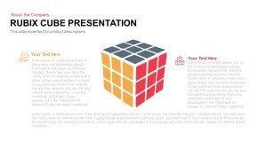 Rubik's Cube PowerPoint Presentation Template and Keynote Slide