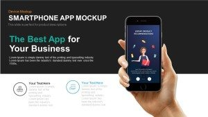 Smartphone App Mockup PowerPoint Template and Keynote