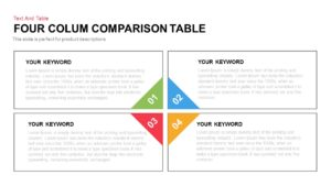 Column Comparison Table PowerPoint Template & Keynote Slide