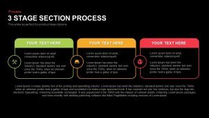 3 Stage Section Process Template for PowerPoint and Keynote