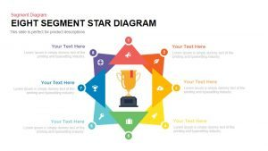 8 Segment Star Diagram Template for PowerPoint and Keynote