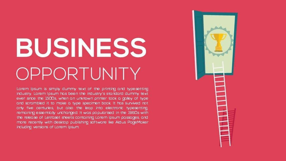 Metaphor business opportunity template powerpoint presentation and keynote template