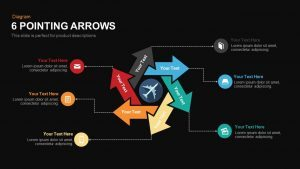 6 Pointing Arrows Powerpoint and Keynote template
