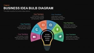 Business Idea Diagram Light Bulb PowerPoint Template and Keynote