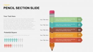 5 Section Pencil PowerPoint Template and Keynote Slide