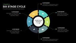6 Stage Cycle Template for PowerPoint and Keynote