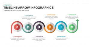 Infographic Timeline Arrow PowerPoint Template and Keynote