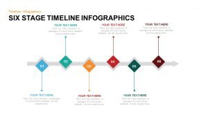 6 Stage Timeline Infographic PowerPoint Template and Keynote Slide