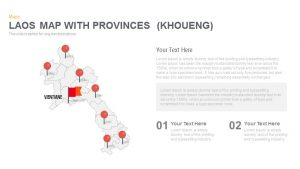 Laos Map With provinces (khoueng) Powerpoint and Keynote template
