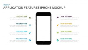 Application Features iPhone Mockup PowerPoint Template and Keynote