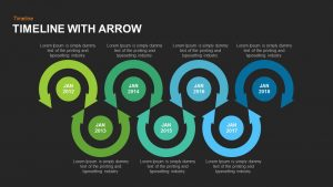 Timeline Arrow Template for PowerPoint and Keynote