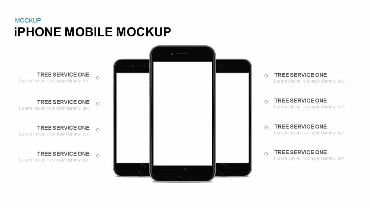 iPhone mobile mockup Powerpoint and Keynote template