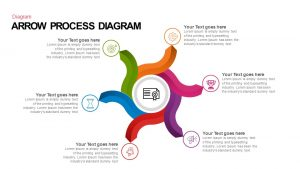 Arrow Process Diagram PowerPoint Template and Keynote