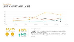 Line Chart Analysis PowerPoint Template and Keynote Slide