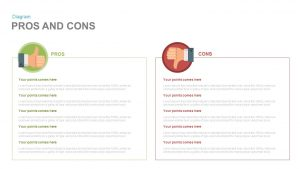 Pros and Cons PowerPoint Template & Keynote Slide