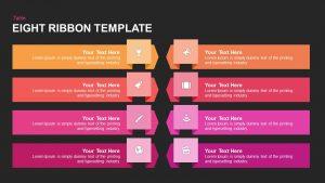 8 Ribbon PowerPoint Template & Keynote Diagram