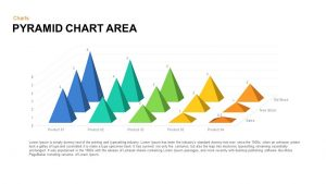 Pyramid Area Chart Template for PowerPoint and Keynote