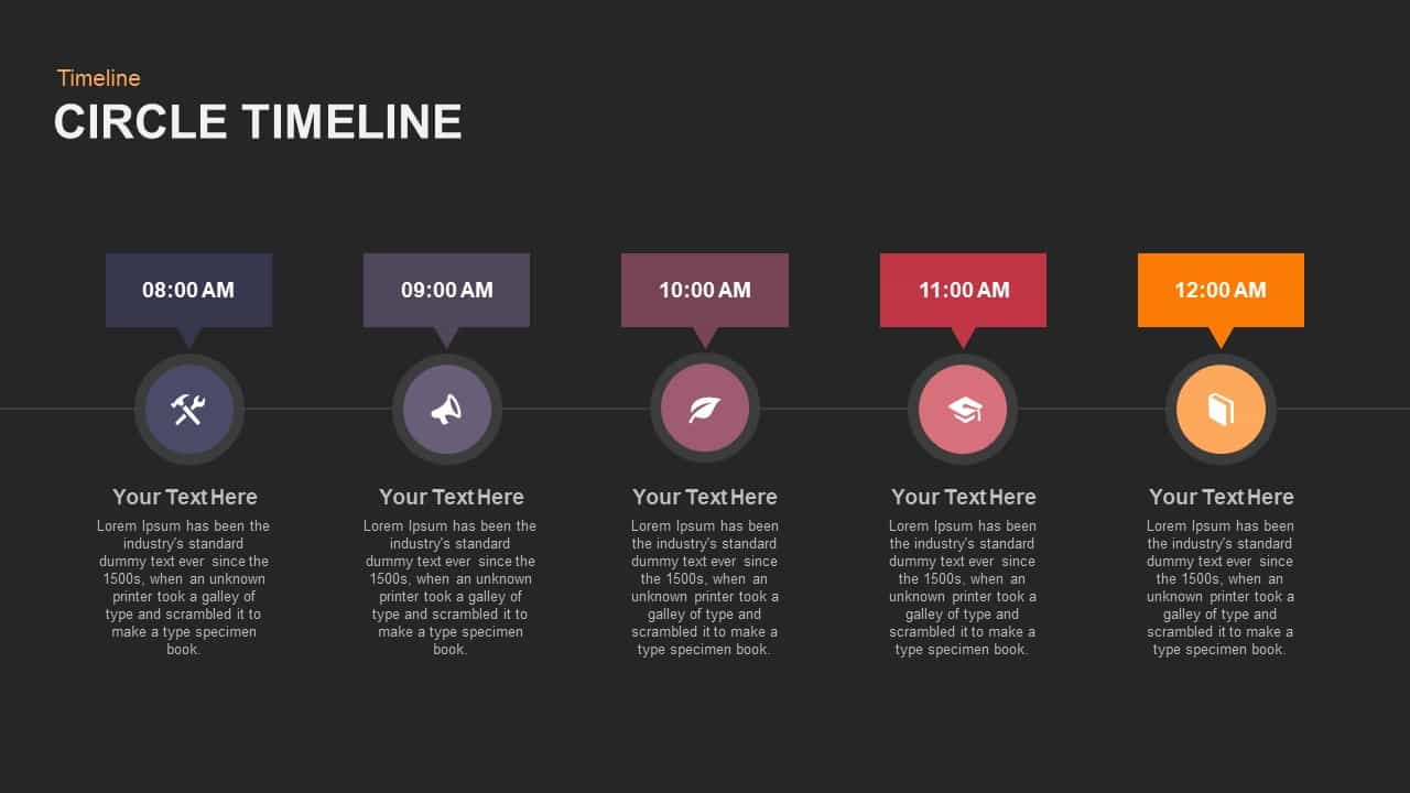 Circle Timeline Powerpoint and Keynote template