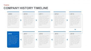 Company History Timeline PowerPoint Template and Keynote Slide