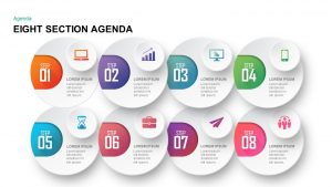 Eight Section Agenda PowerPoint Template & Keynote Template