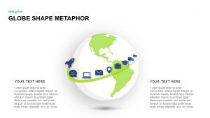 Metaphor Globe Shapes Template for PowerPoint Presentations and Keynote Slide