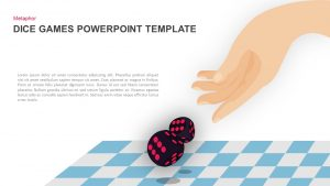 Dice Games PowerPoint Template and Keynote Slide
