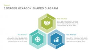3 Stages Hexagon Shape Diagram Template for PowerPoint and Keynote
