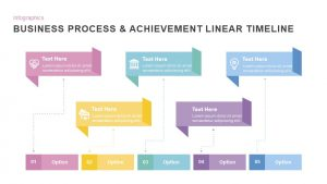 Business Process & Achievement Linear Timeline Template PowerPoint and Keynote