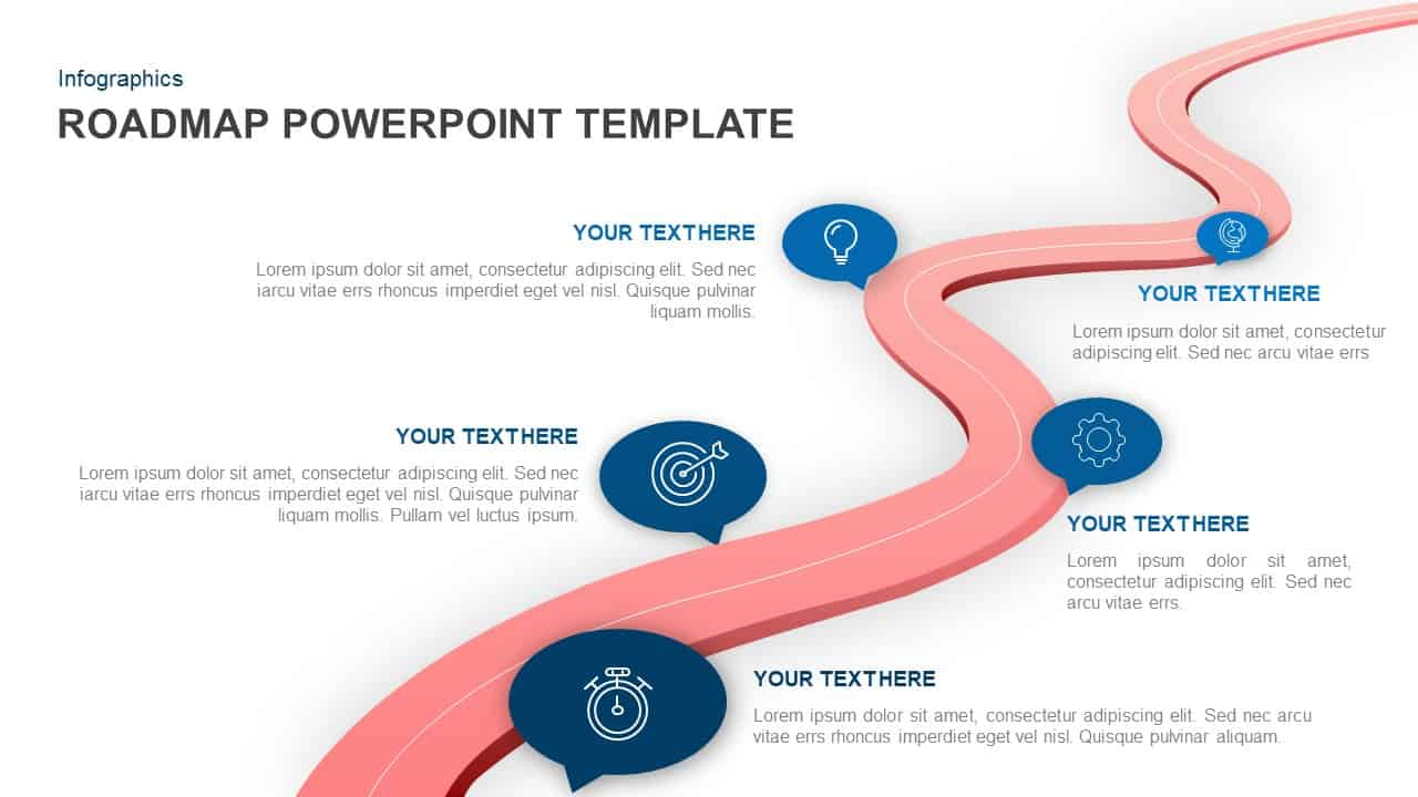 Roadmap PowerPoint template and Keynote