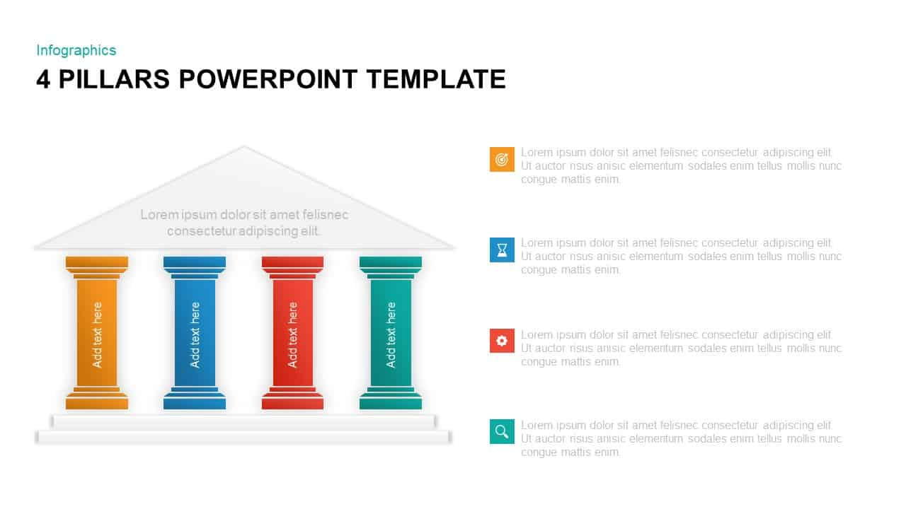 4 Pillars PowerPoint Template