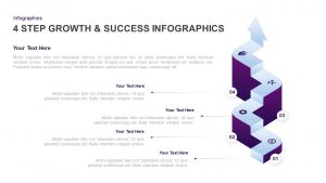 4 Step Growth and Success Infographic PowerPoint Template & Keynote