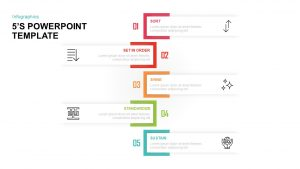 5'S Diagram for PowerPoint & Keynote