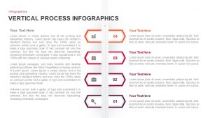 4 Step Vertical Process Infographic Template for PowerPoint & Keynote