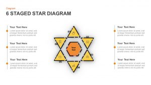 6 Staged Star Diagram For Business Target And Analysis