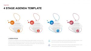 4 Step Agenda Ppt Template