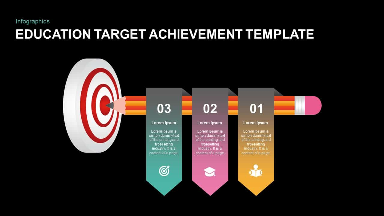Target Achievement PowerPoint Template for Education Purpose