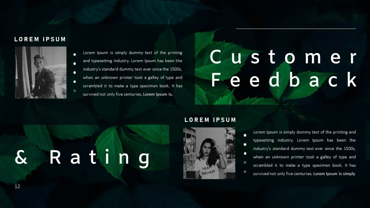 Annual Report Ppt Template Customer Feedback