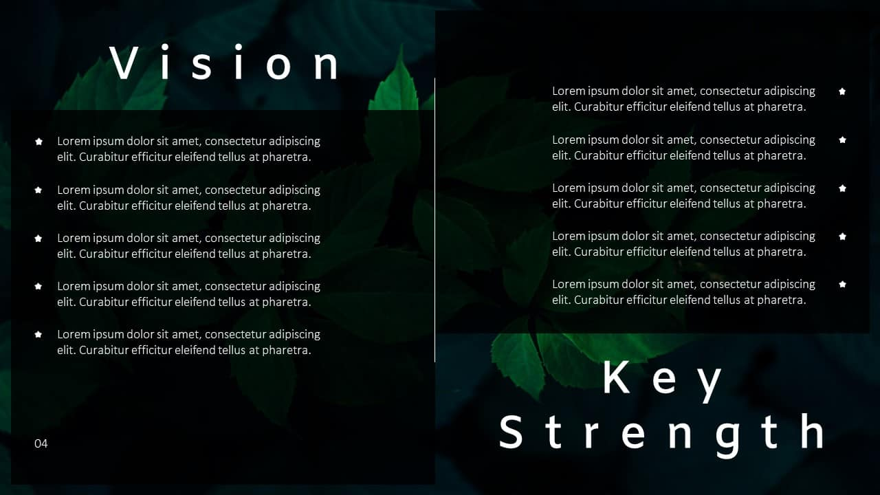 Annual Report Ppt Template Vision